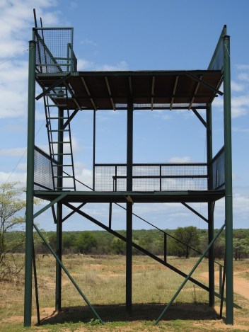a designated tower for long range rifle shooting