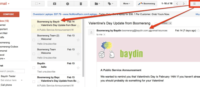 Boomerang now supports Gmail Labs' Preview Pane!