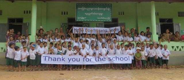 Boomerang's Philanthropy in Action: Building New Schools in Burma