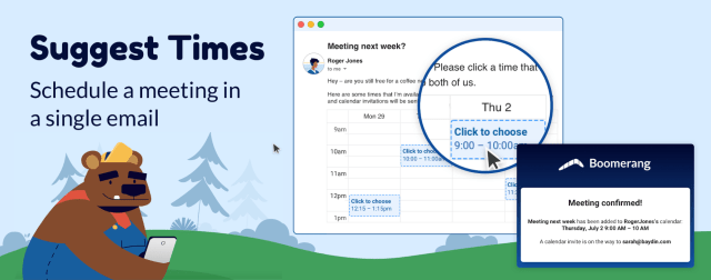 Suggest Times: Scheduling a meeting in a single email.