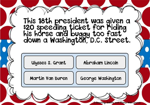 Presidential Fun Facts Snip