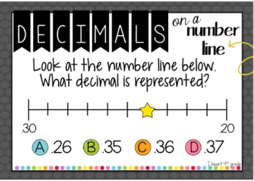 decimals-on-a-number-line-multiple-choice