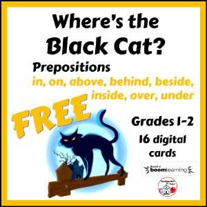 Where's the Black Cat? Prepositions by Teaching Stuff Place