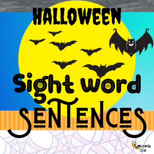 Halloween Sight Word Sentences by The Speech Banana