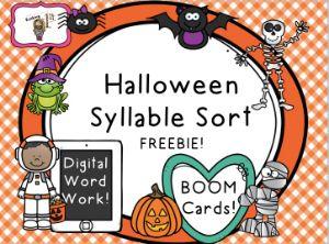 Halloween Syllable Sort