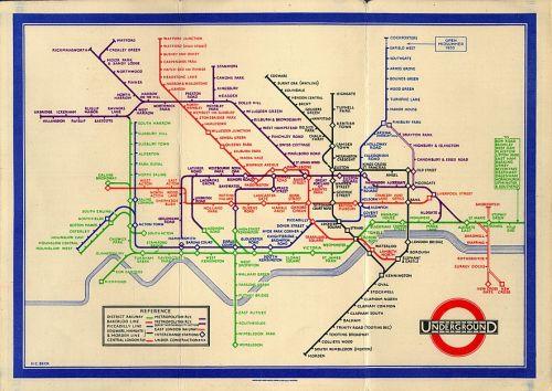 London Tube Map - Beck