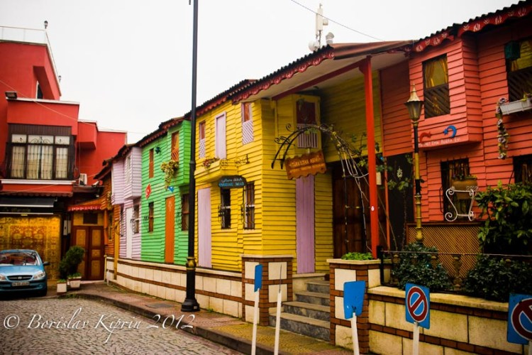 Houses in colors