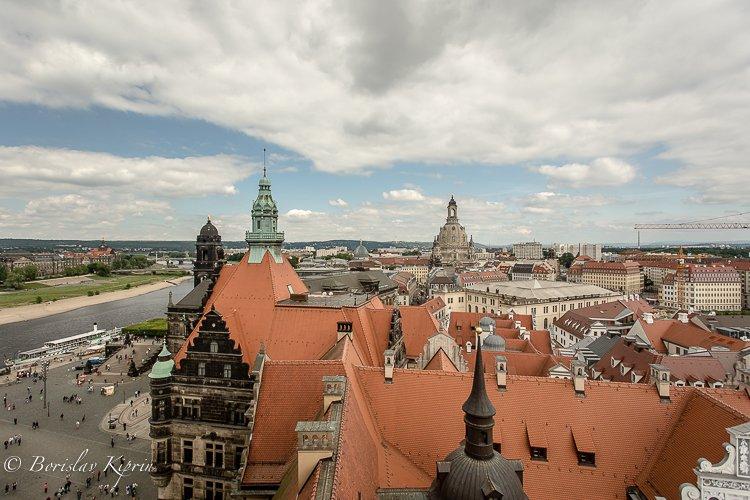 Dresden's rooftops