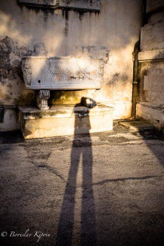 A photographer's shadow