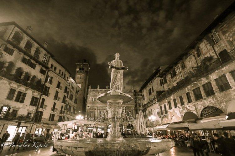 Fountain under the sky