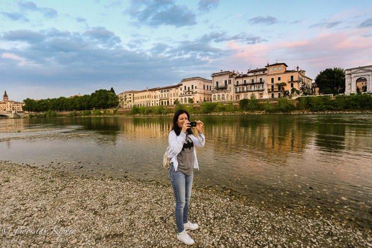Taking photos in Verona