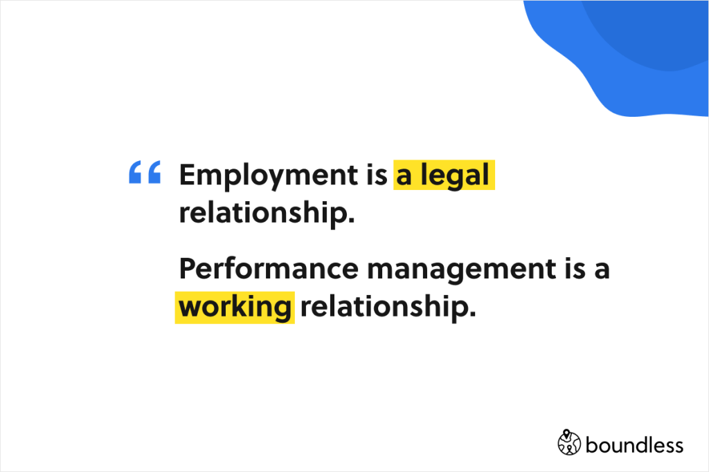 employment is a legal relationship