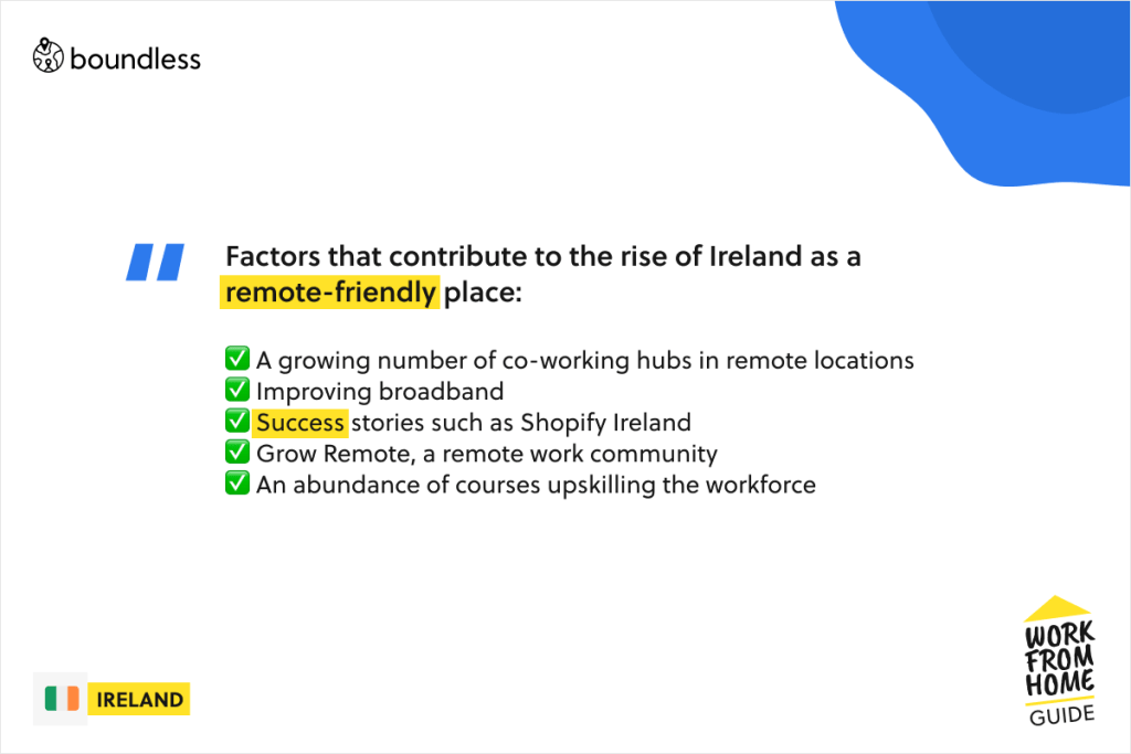 rise of Ireland as remote-friendly place