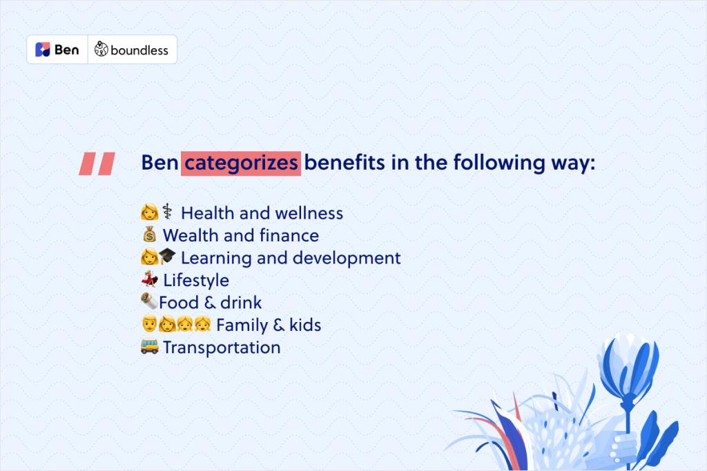 hw to categorise benefits