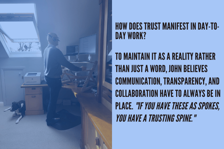 trust relies on communication, transparency and collaboration