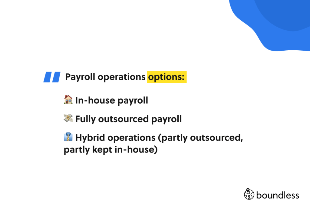 payroll operations options