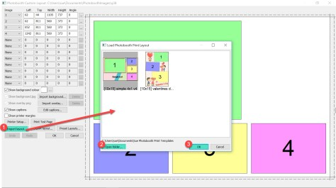 Importing a layout into the Print Layout Editor DSLR Remote Pro 391
