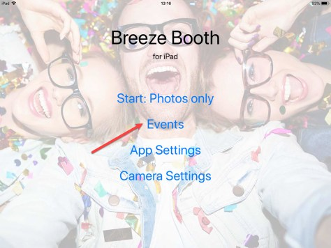 Breeze Booth for iPad home screen