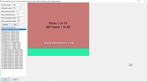 Screenshot of GIF Layout Editor in Breeze Booth Event Editor