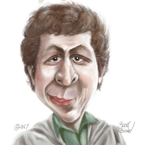 Michael Cera caricature final by Brent Brown