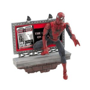 Spider-man movie figure with billboard loose