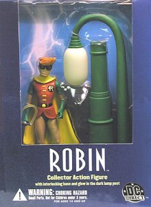 DKR Robin figure with lamp post and sidewalk