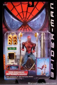 Spider-Man movie web swinging figure package