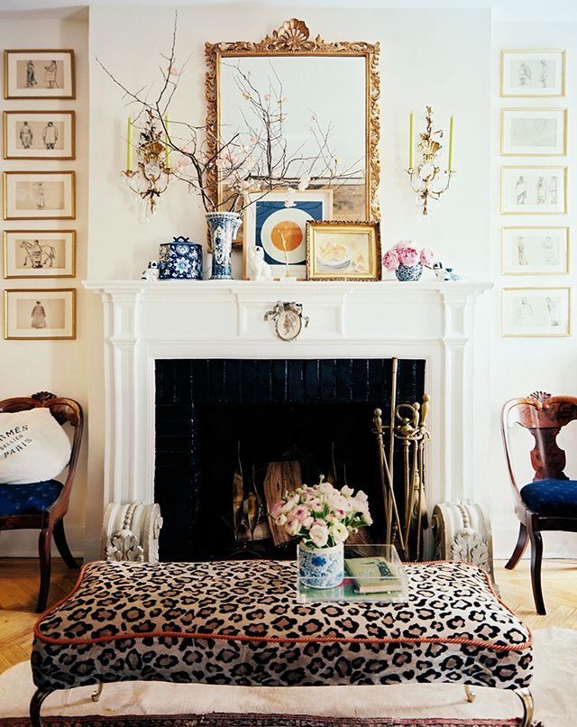 faux leopard bench
