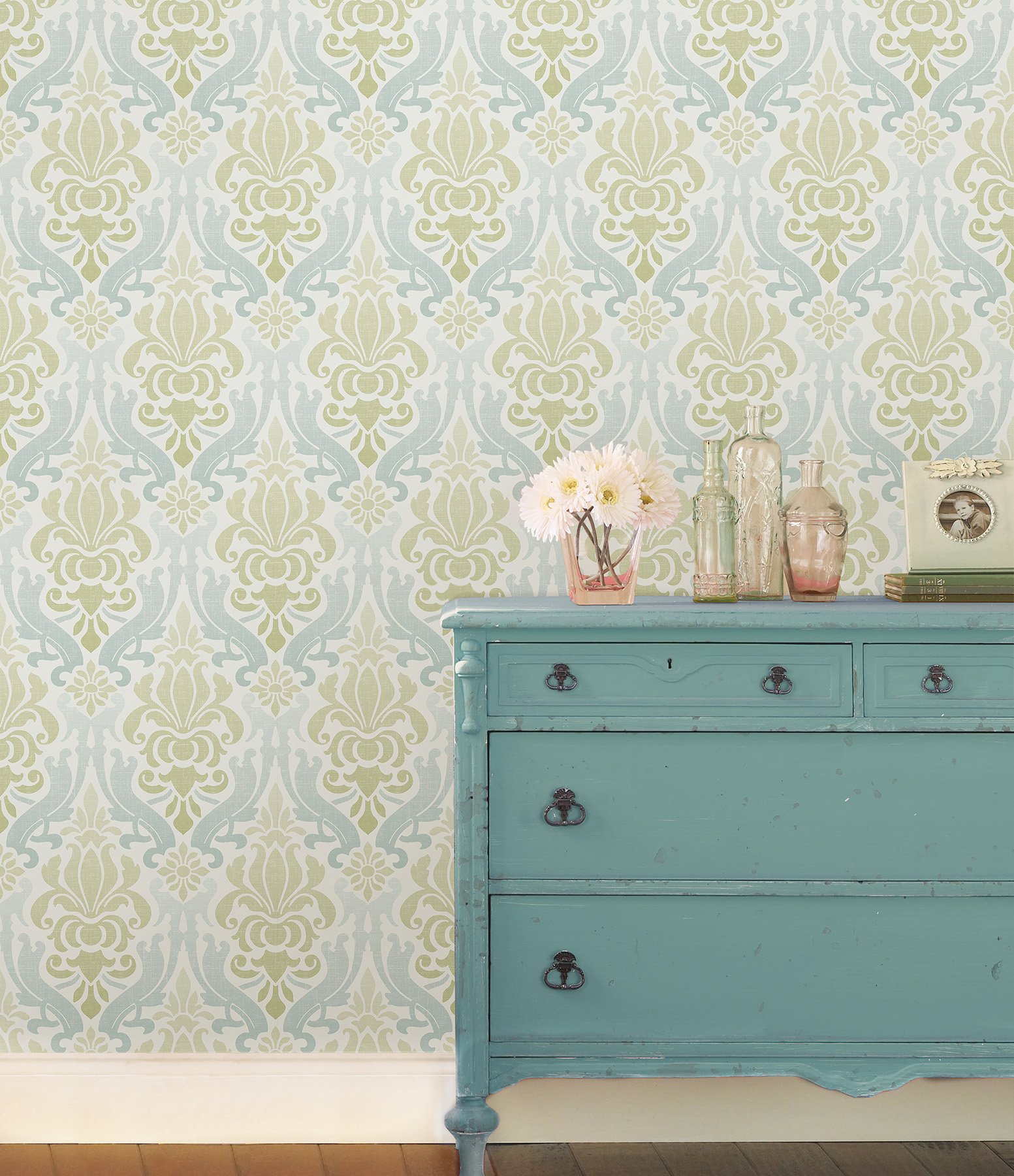 damask peel and stick wallpaper