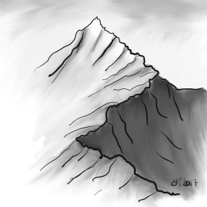 How to Draw A mountain  - Sketch 39