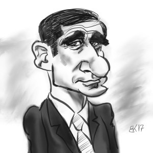 How Draw A Caricature of Steve Carell - Sketch 61
