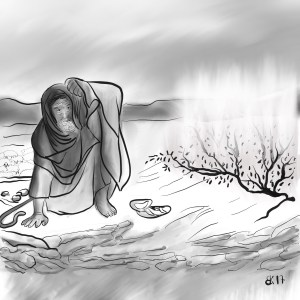 How to Draw Moses and the burning bush - Sketch 71