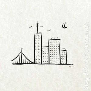 How to Draw a Minimalistic City Schene - Sketch 87