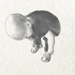 My Cute Granddaughter With New Shoes - Sketch 128