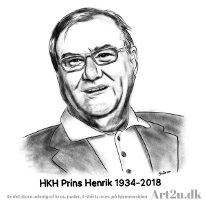 Pen and Ink Drawing of HKH Prins Henrik - Sketch 503