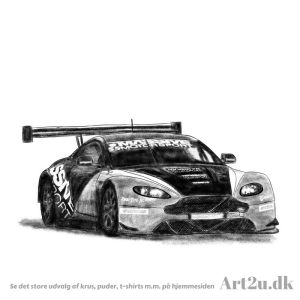 Pen and Ink Drawing of Casper Elgaard Racingcar - Sketch 517