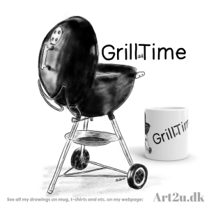 Pen and Ink Drawing of a Weber Grill - Sketch 522