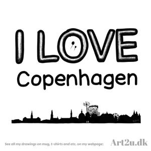 Pen and Ink Drawing of Copenhagen - Sketch 536