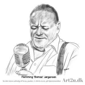 Pen and Ink Drawing of Flemming Bamse Jørgensen - Sketch 546