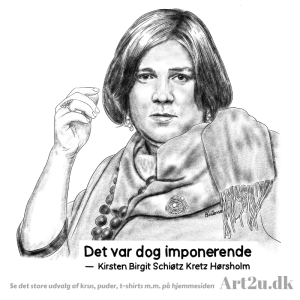 Pen and Ink Drawing of Kirsten Birgit - Sketch 572