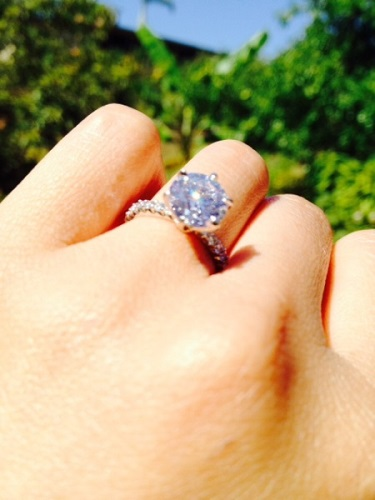 Close Up Of The 2ct Brian Gavin Diamond Engagement Ring