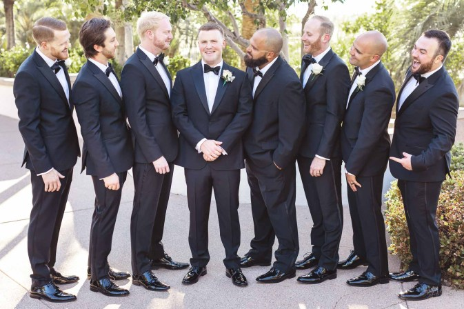 Groom and Groomsmen at Emerald at Queensridge