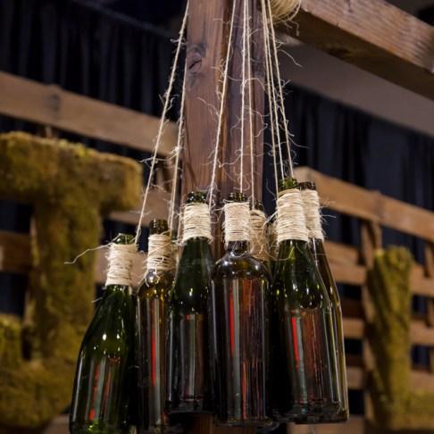 Hanging Bottles on Display
