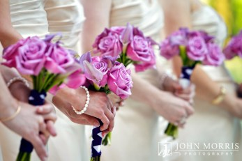 Gorgeous Lavendar Roses were carried by the bridesmaids.