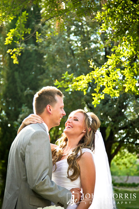 Blissful Wedding Day Portrait by John Morris