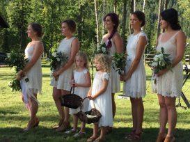 Ivory & Green Wedding