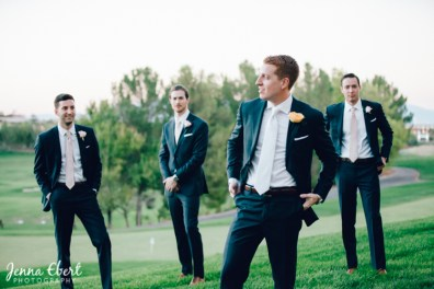 Tuxedos by Jenna Ebert for Real Weddings in Spectacular Bride Magazine