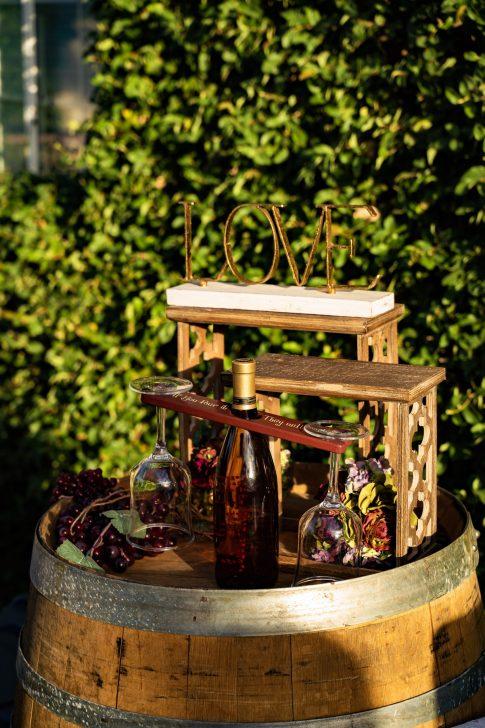 Wine Themed details at Destination Wedding Bridal Spectacular Las Vegas