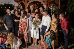 older couple marry in Las Vegas for Destination Wedding Bridal Spectacular