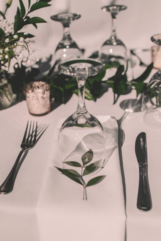 Leaf under Glass